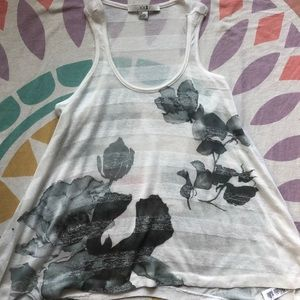 Forever 21 Asymmetrical Floral Tank Top